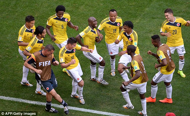 colombians celebrate